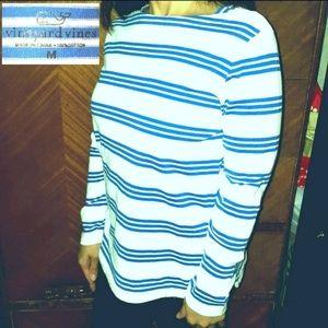 Vineyard Vines Knit Triple Stripe Boatneck Top, Md